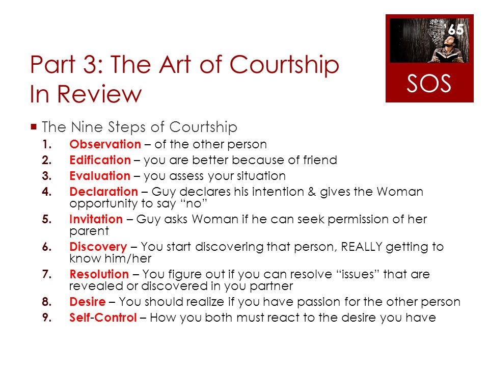 Part 3: The Art of Courtship In Review