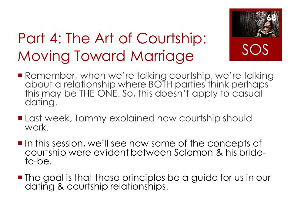 Part 4: The Art of Courtship: Moving Toward Marriage