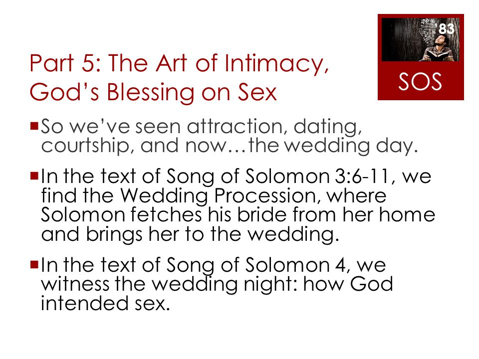Part 5: The Art of Intimacy, God's Blessing on Sex