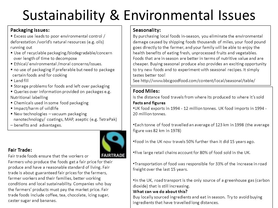 Sustainability & Environmental Issues