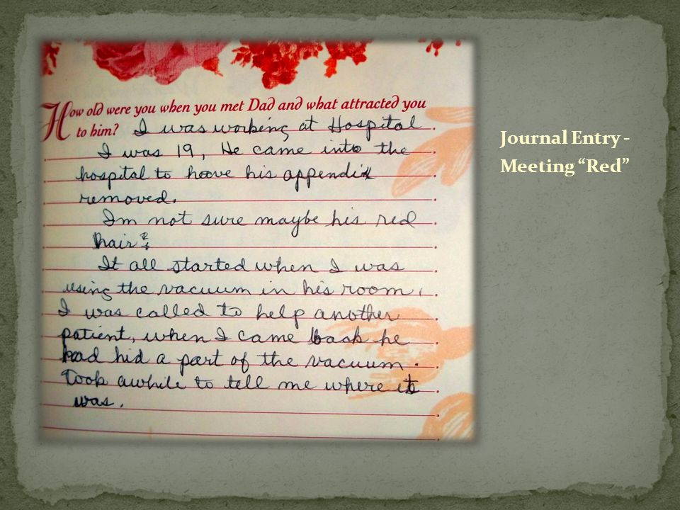 Journal Entry - Meeting Red