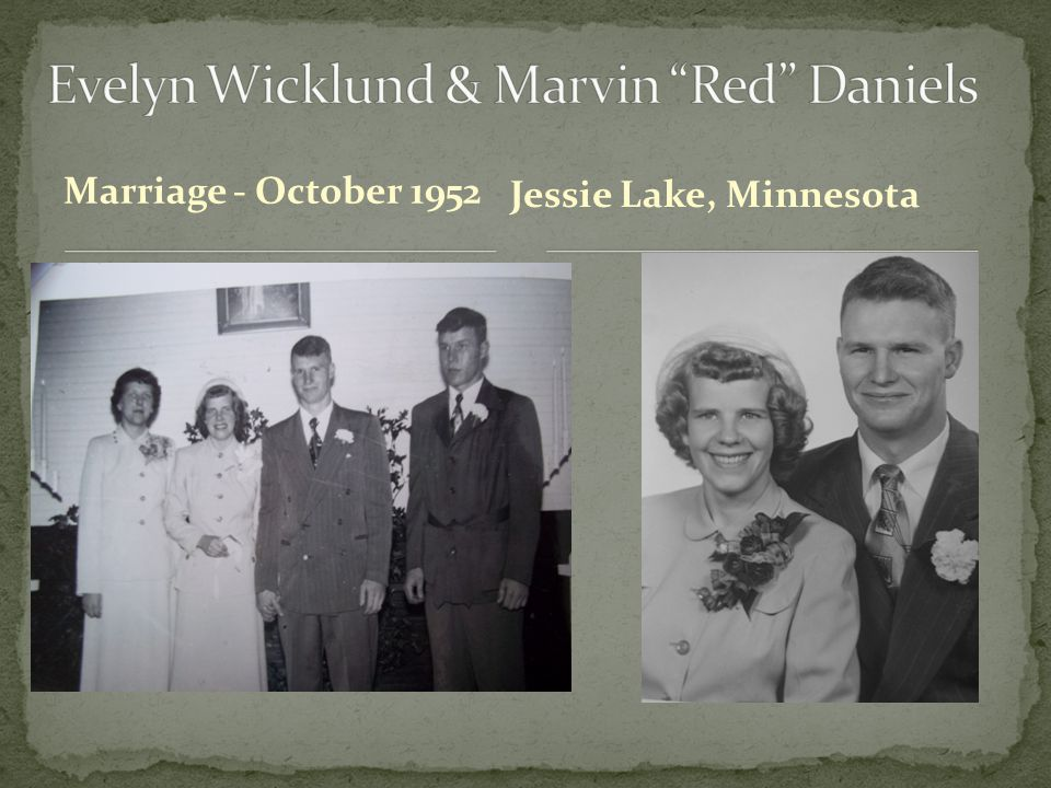 Evelyn Wicklund & Marvin Red Daniels