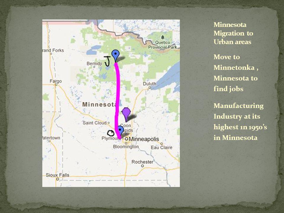 Minnesota Migration to Urban areas