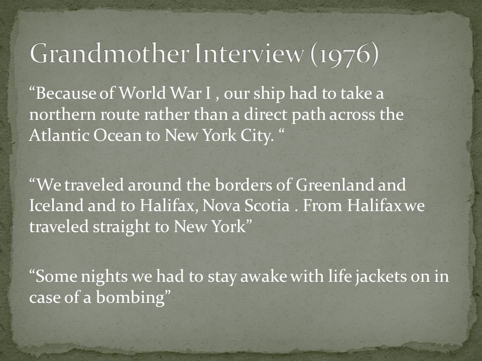 Grandmother Interview (1976)