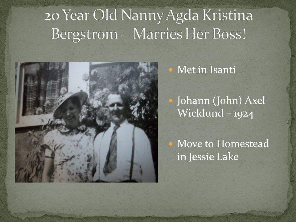 20 Year Old Nanny Agda Kristina Bergstrom - Marries Her Boss!