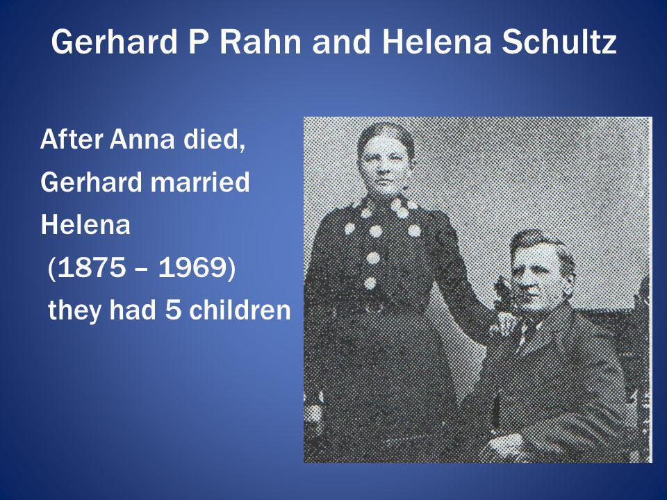 Gerhard P Rahn and Helena Schultz