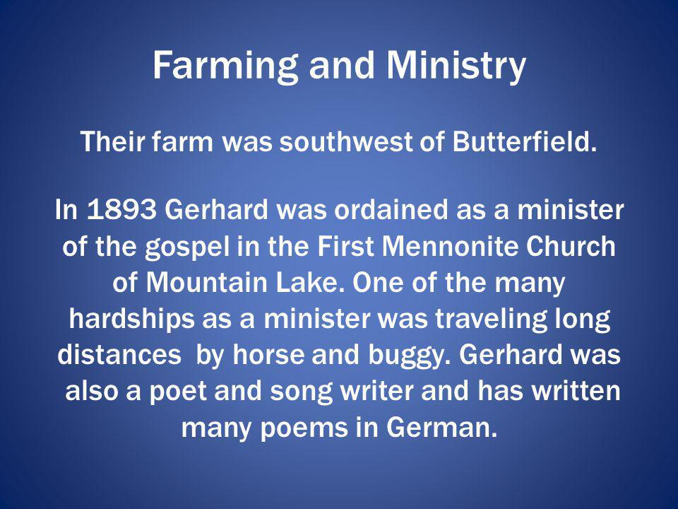 Farming and Ministry