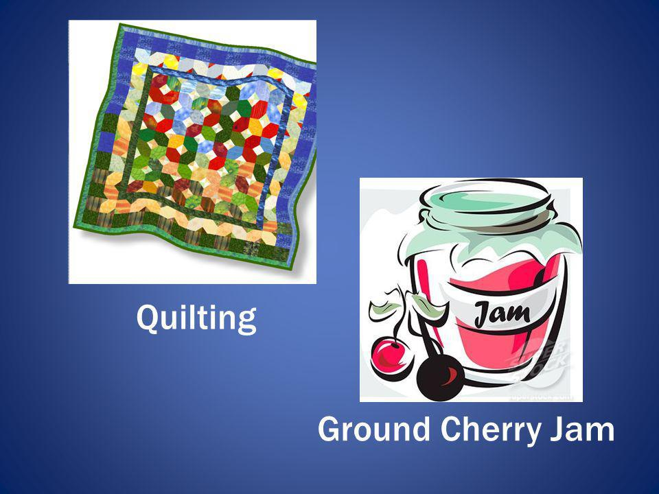 Quilting Ground Cherry Jam