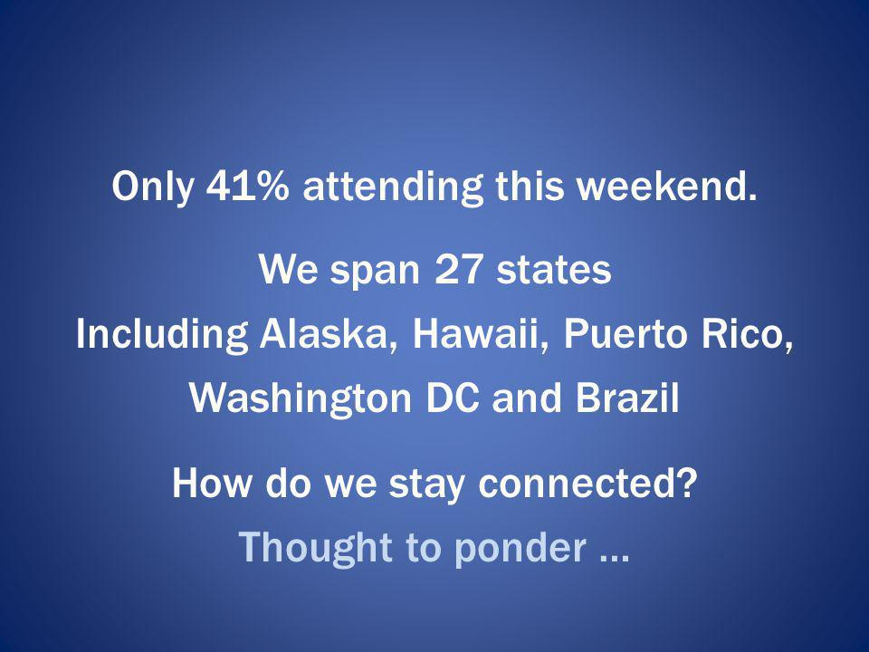 Only 41% attending this weekend