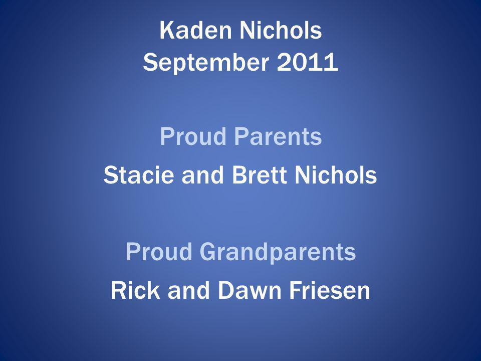 Kaden Nichols September 2011