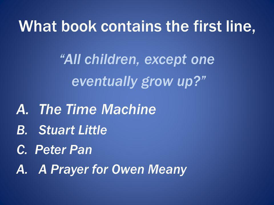 What book contains the first line,