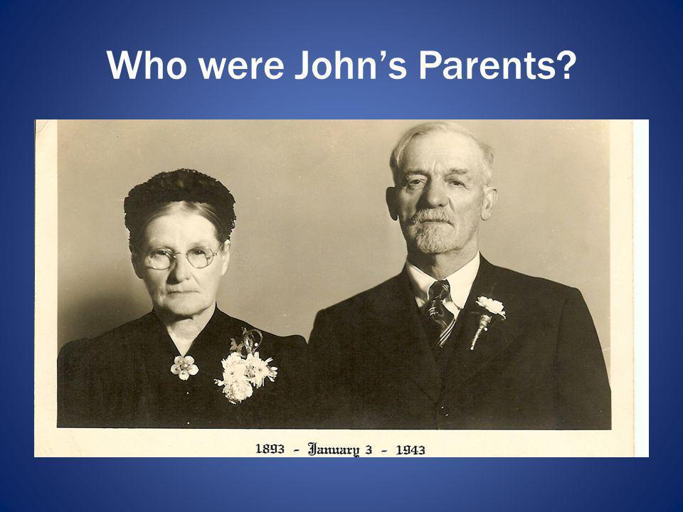 Who were John's Parents