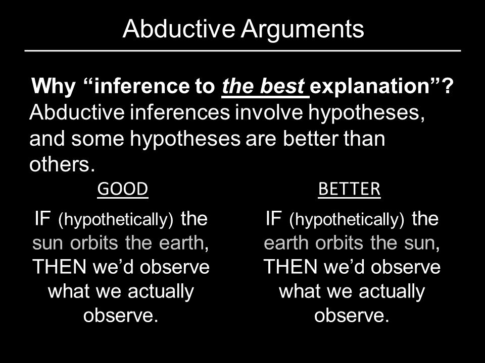 Why inference to the best explanation