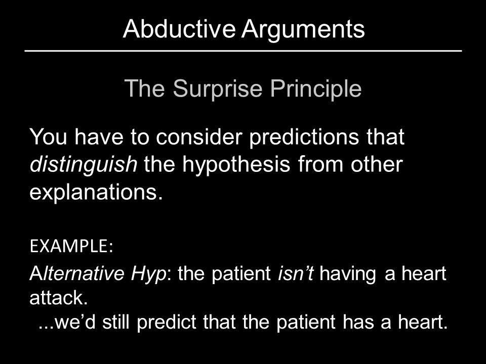 Abductive Arguments The Surprise Principle
