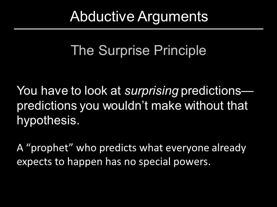 The Surprise Principle