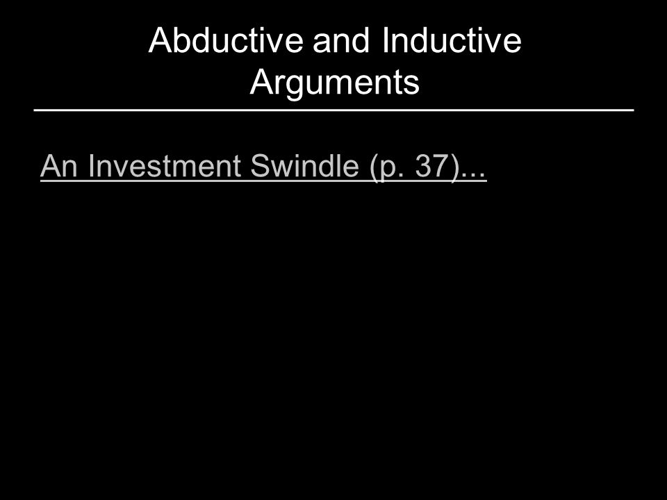 Abductive and Inductive