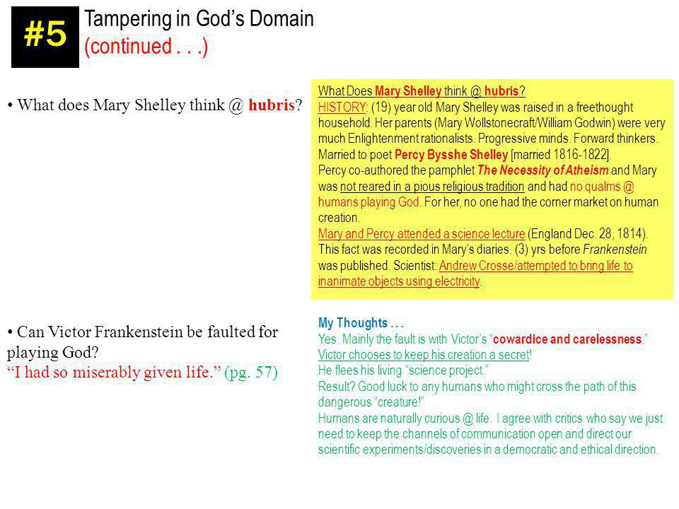 #5 Tampering in God's Domain (continued . . .)