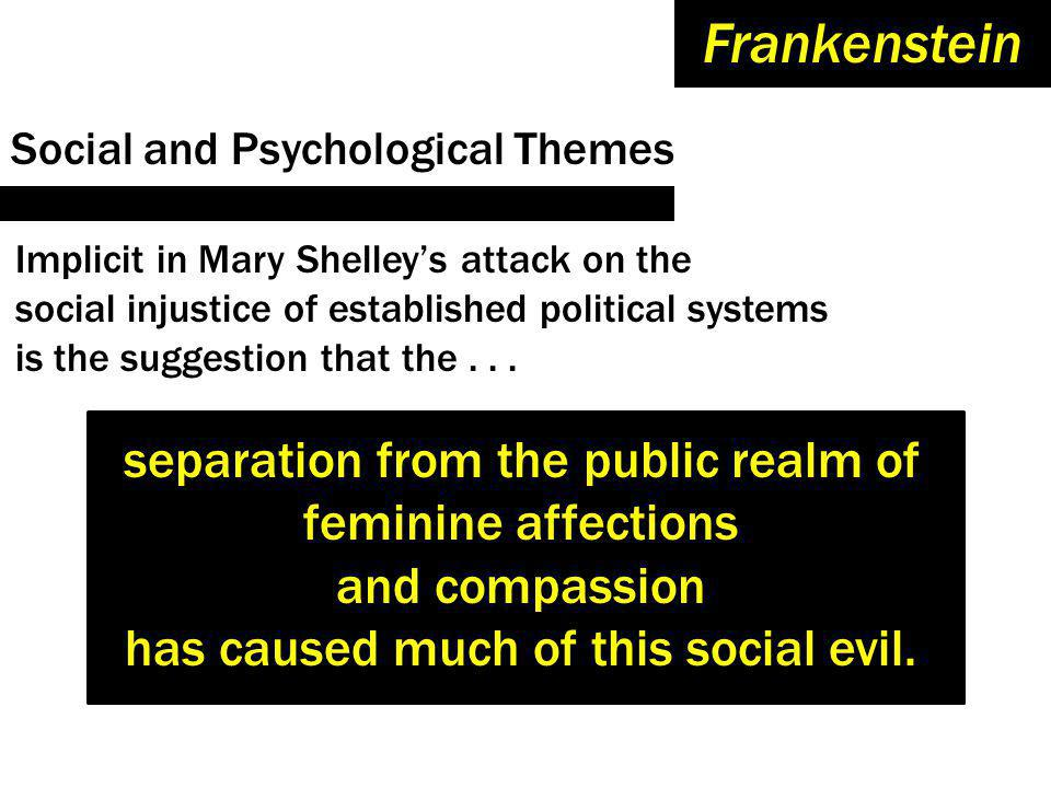 Frankenstein separation from the public realm of feminine affections