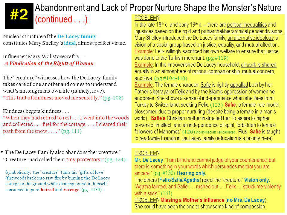 #2 Abandonment and Lack of Proper Nurture Shape the Monster's Nature