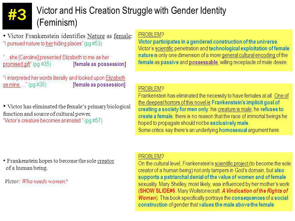 #3 Victor and His Creation Struggle with Gender Identity (Feminism)