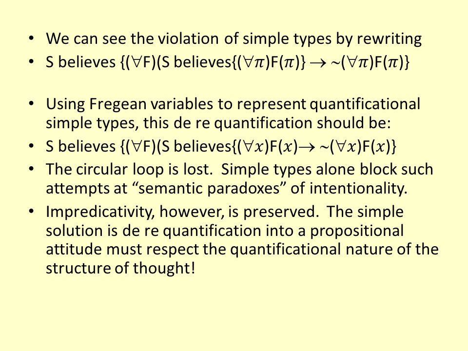 We can see the violation of simple types by rewriting