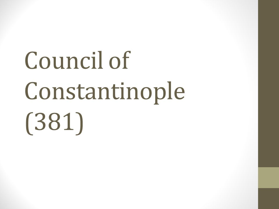 Council of Constantinople (381)