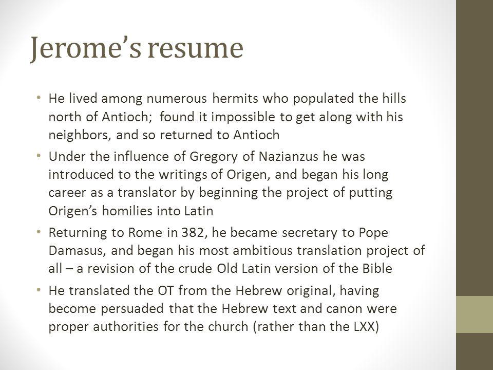 Jerome's resume