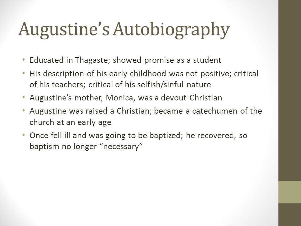 Augustine's Autobiography