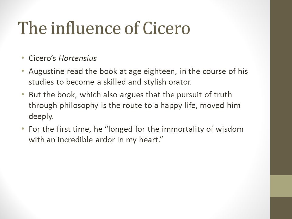 The influence of Cicero