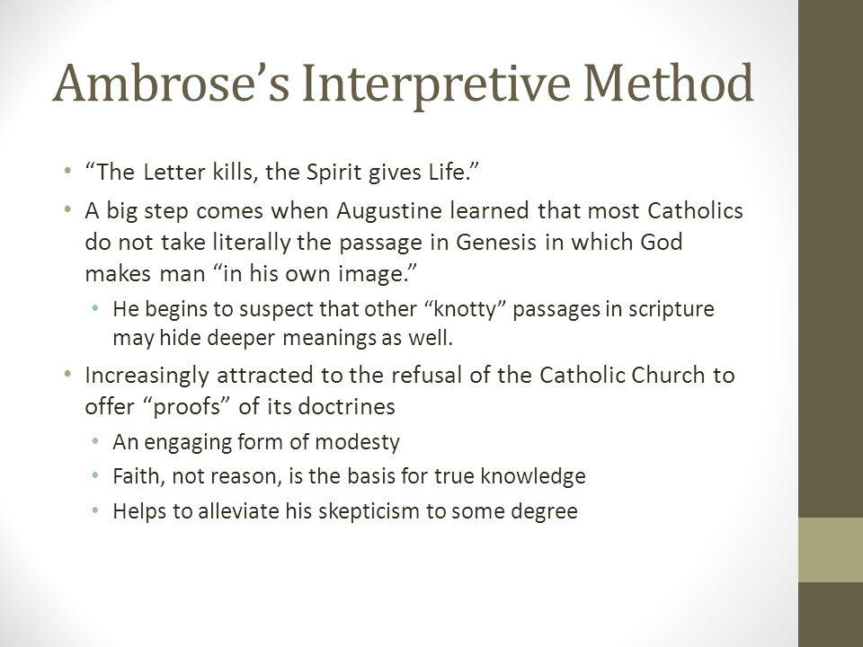 Ambrose's Interpretive Method