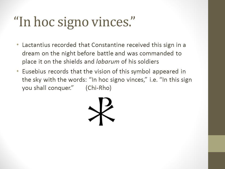 In hoc signo vinces.