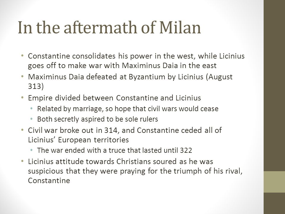 In the aftermath of Milan