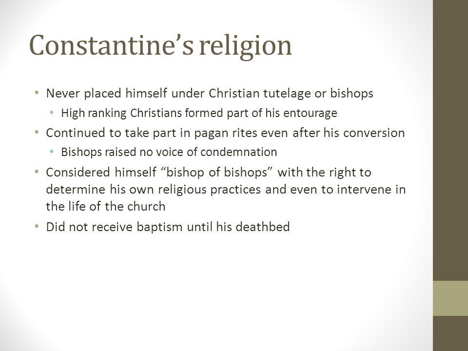 Constantine's religion
