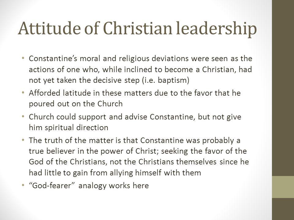 Attitude of Christian leadership