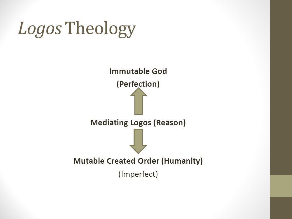 Mediating Logos (Reason) Mutable Created Order (Humanity)