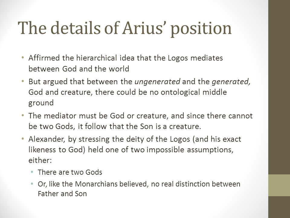 The details of Arius' position