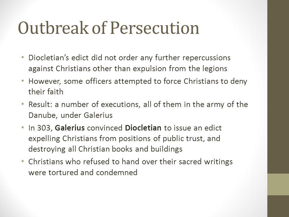 Outbreak of Persecution