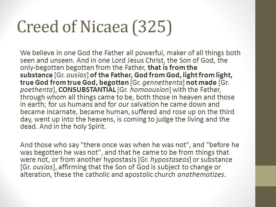 Creed of Nicaea (325)