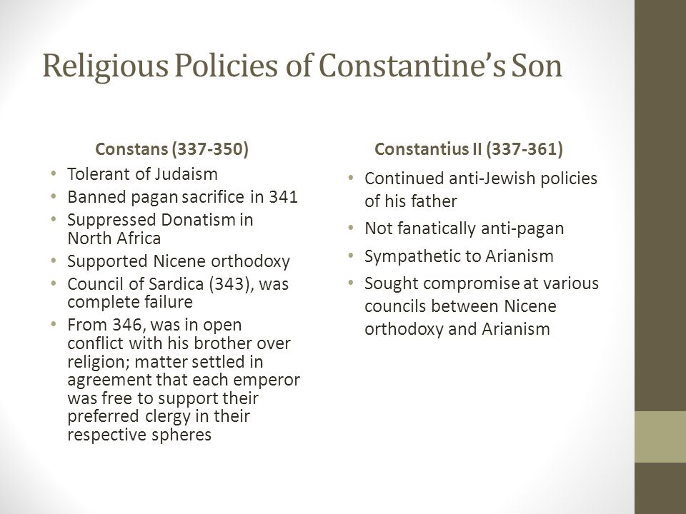 Religious Policies of Constantine's Son