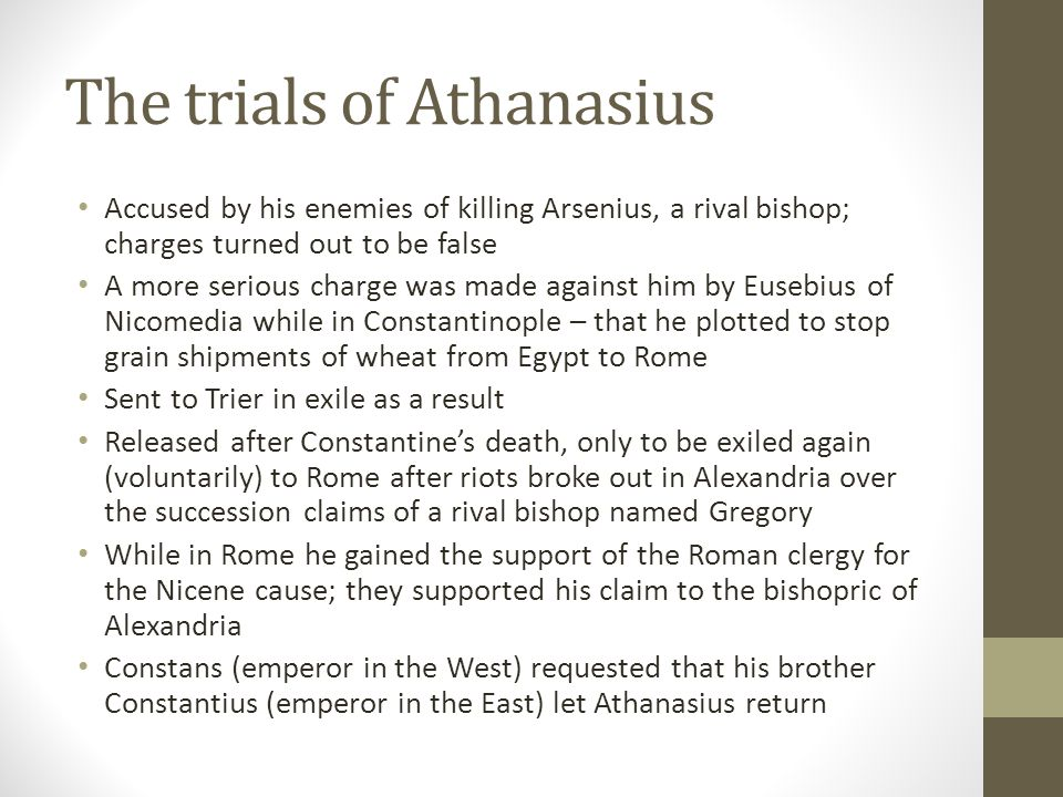 The trials of Athanasius