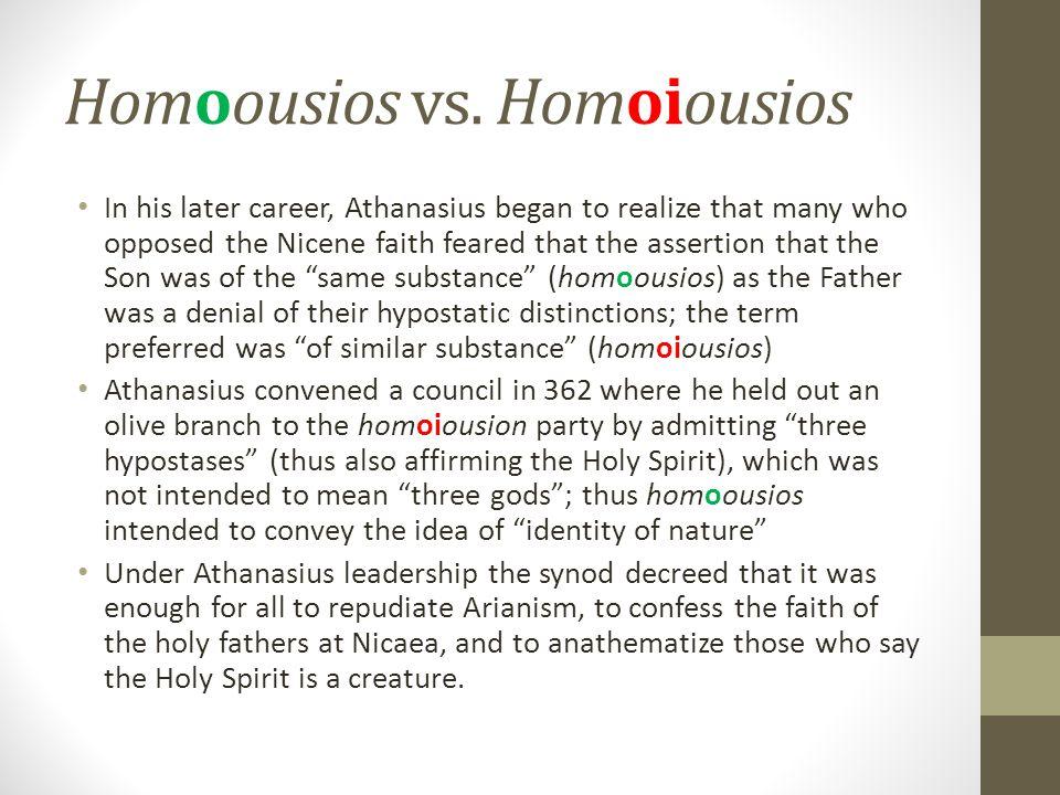 Homoousios vs. Homoiousios