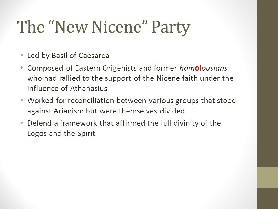 The New Nicene Party Led by Basil of Caesarea