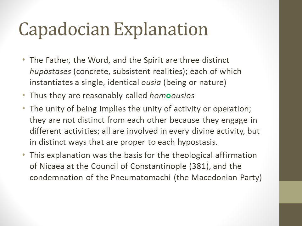 Capadocian Explanation
