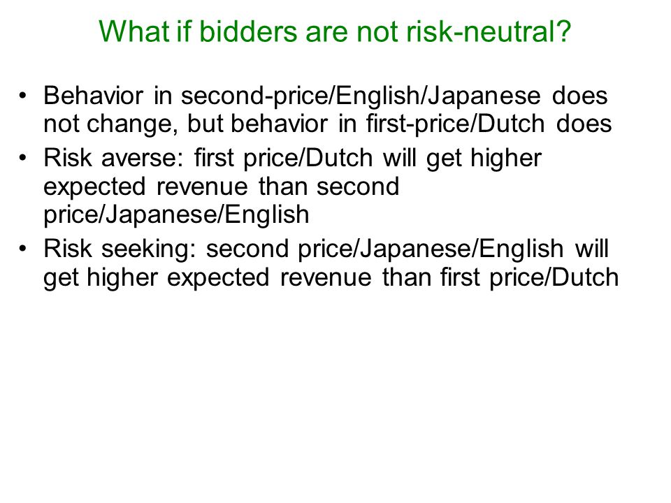 What if bidders are not risk-neutral