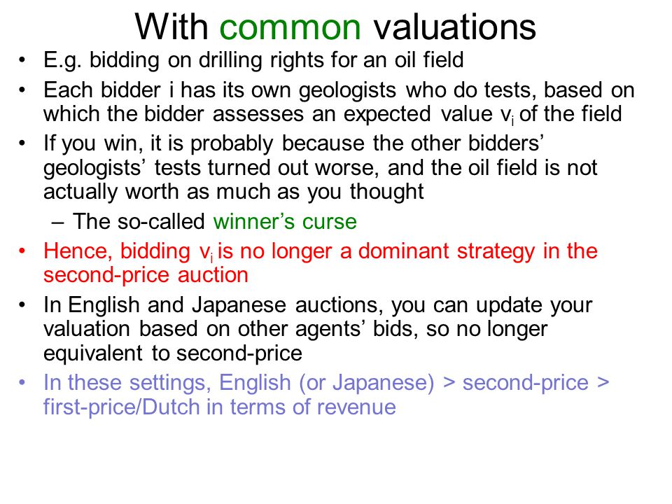 With common valuations
