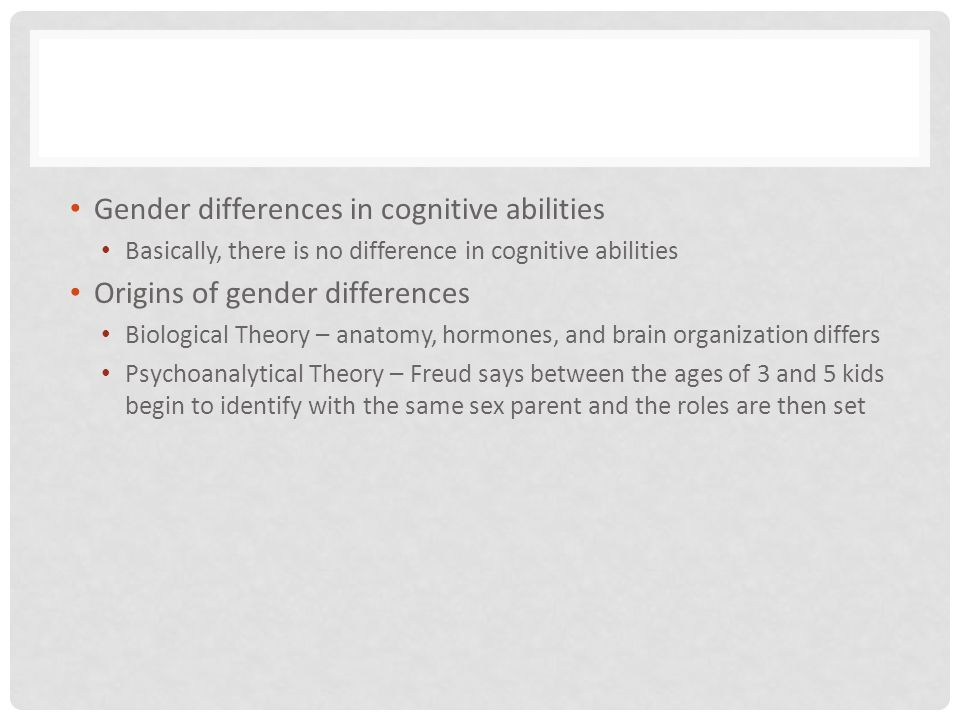 Gender differences in cognitive abilities