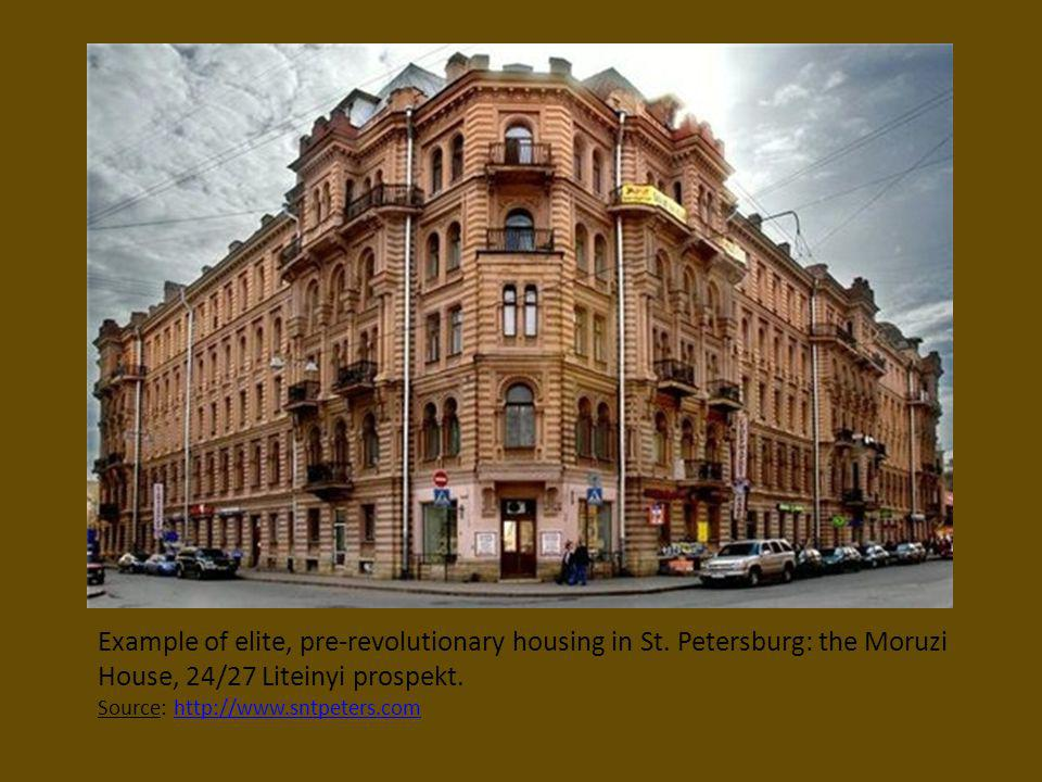Example of elite, pre-revolutionary housing in St
