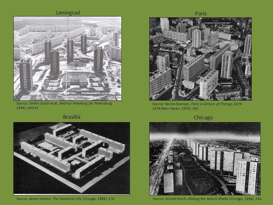 Leningrad Brasilía Chicago Paris