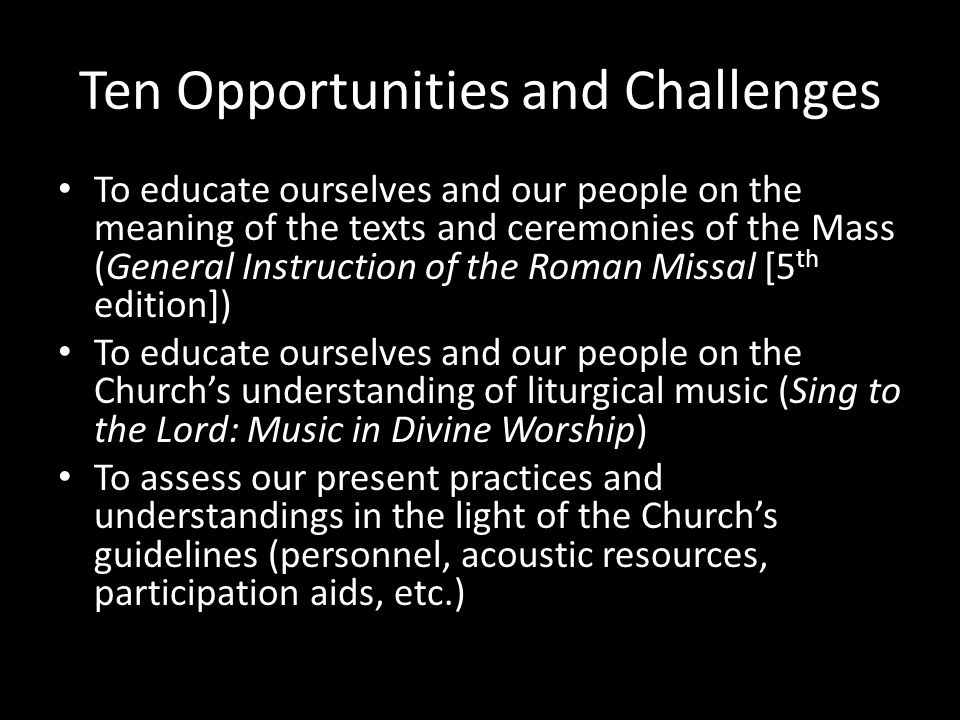 Ten Opportunities and Challenges