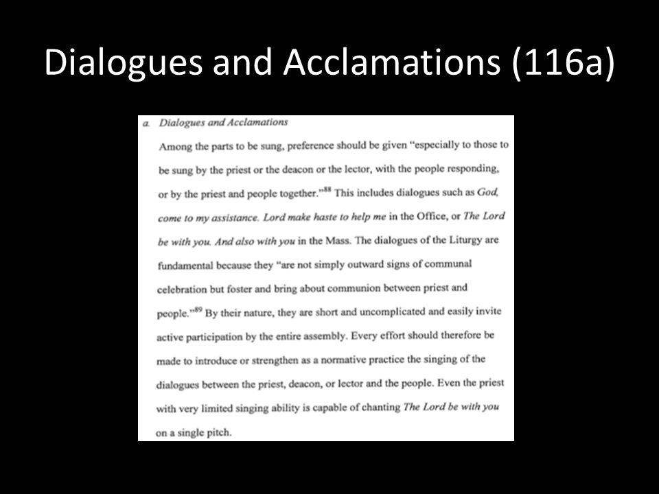 Dialogues and Acclamations (116a)